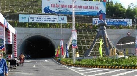Hầm đường bộ Đèo Cả chính thức thông xe