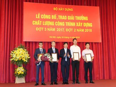 Trung Nam Group nhận 2 giải thưởng công trình chất lượng cao