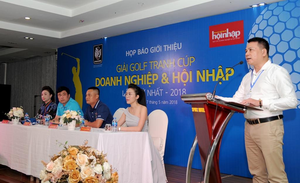 Họp báo giải Golf tranh Cup Doanh nghiệp & Hội nhập lần thứ nhất 2018