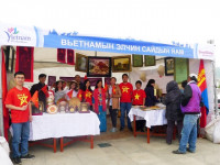 Gian hàng quảng bá du lịch Việt Nam tại Ulan Bator hấp dẫn du khách