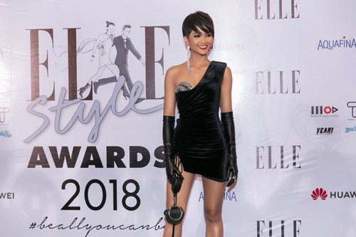 """Hoa hậu H'Hen Niê nhận giải thưởng """"Best Dress of the night"""" tại Elle Style Awards 2018"""