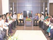Chủ tịch nước CHDCND Lào, thăm, làm việc với lãnh đạo Thanh Hóa tại FLC Sầm Sơn