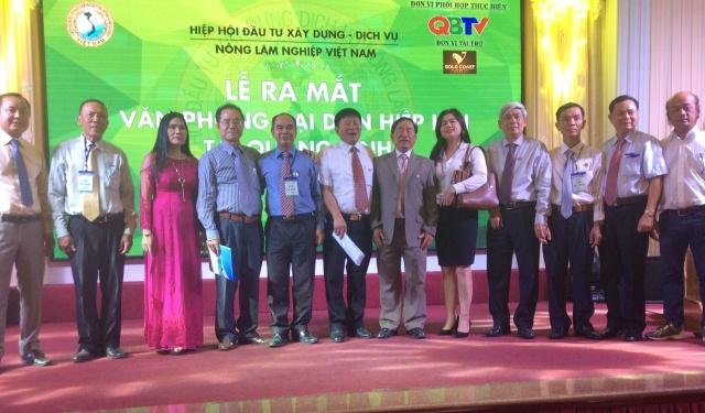 Hiệp hội Đầu tư xây dựng - Dịch vụ nông, lâm nghiệp Việt Nam ra mắt Văn phòng đại diện