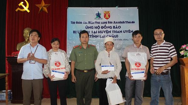 Tập đoàn Tân Hiệp Phát  chia sẻ khó khăn với  bà con bị thiên tai tại Lai Châu, Hà Giang