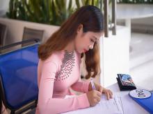 Thí sinh Hoa hậu Đại sứ Hoàn vũ Người Việt 2018 rạng rỡ trong buổi gặp gỡ ban tổ chức