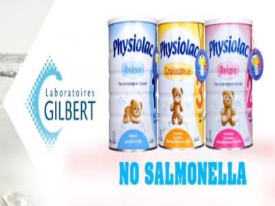 Physiolac – Sản phẩm dinh dưỡng Pháp không chứa vi khuẩn Salmonella