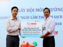 Nestlé Việt Nam xây nhà ăn trường học bằng gạchkhông nung từ sản xuất cà phê