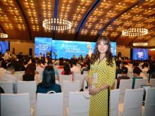 Á khôi Hồ Thanh Hương  tham dự sự kiện Hội nghị Thượng đỉnh Kinh doanh Việt Nam
