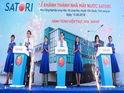 Long An: Khánh thành Nhà máy sản xuất nước Satori