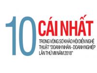 """10 cái nhất trong vòng sơ khảo hội diễn nghệ thuật """"Doanh nhân - Doanh nghiệp lần thứ VIII năm 2018"""""""