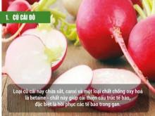 Thanh lọc cơ thể hiệu quả từ 10 loại rau, củ