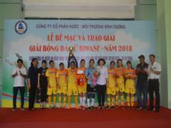 Đội Xí nghiệp xử lý chất thải đạt Cúp vô địch giải bóng đá nữ Biwase 2018