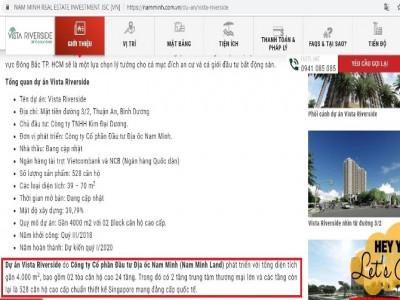 Bài 2: Dự án Vista Riverside: Được duyệt xây 15 tầng, thông tin quảng cáo 24 tầng?