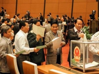 Hôm nay trình Quốc hội danh sách 48 người được lấy phiếu tín nhiệm