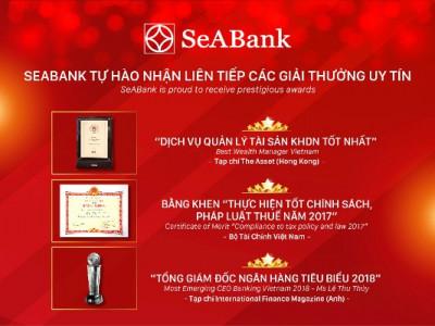 SeABank tự hào nhận liên tiếp các giải thưởng uy tín