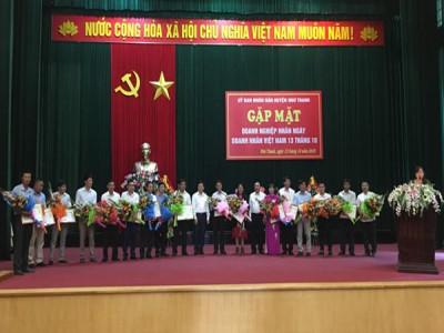 Huyện Như Thanh (Thanh Hóa): Gặp mặt kỷ niệm ngày Doanh nhân Việt Nam