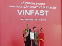 Hải Phòng: Khánh thành nhà máy sản xuất xe máy điện Vinfast