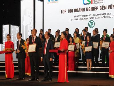 """Công ty TNHH Giấy Lee & Man được công nhận đạt chuẩn """"Doanh nghiệp bền vững năm 2018"""""""