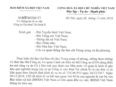 Thông tin của Bảo hiểm xã hội về vụ việc bắt nguyên Tổng giám đốc BHXH Việt Nam Lê Bạch Hồng