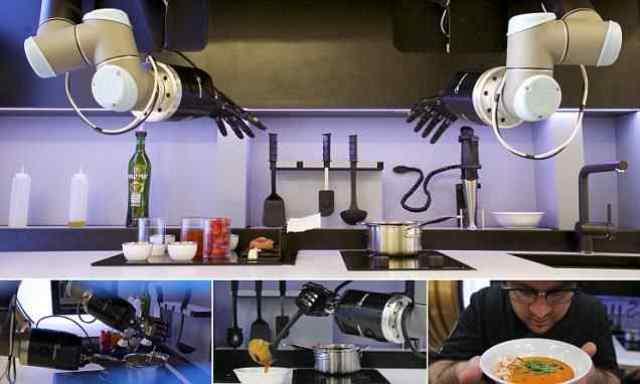 Robot nấu ăn tự động chuẩn bị xuất xưởng ra toàn cầu