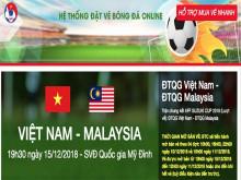 Xuất hiện trang web giả mạo bán vé online trận Việt Nam - Malaysia