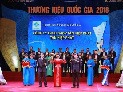 Tân Hiệp Phát, Ôtô Trường Hải tiếp tục là doanh nghiệp có sản phẩm đạt Thương hiệu Quốc gia 2018.