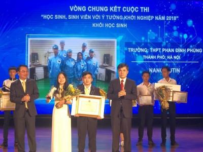 Dự án của học sinh Hà Nội đạt giải Nhất khởi nghiệp sáng tạo
