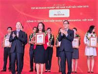 Prudential lọt vào top 50 doanh nghiệp Việt Nam xuất sắc nhất 2018