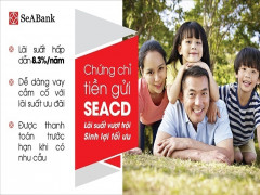 Chứng chỉ tiền gửi lãi suất lên tới 8,6%/năm mới được SeABank phát hành