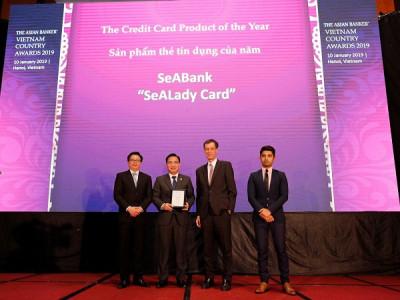 """Thẻ tín dụng quốc tế SeALady được The Asian Banker bình chọn """" Sản phẩm thẻ tín dụng tiêu biểu"""