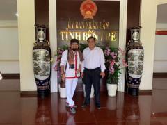Doanh nhân Nguyễn Hoàng Sang động thổ công trình văn hóa tâm linh 206 tại Bến Tre