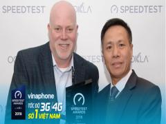 VinaPhone nhận giải thưởng Speedtest về nhà mạng có tốc độ 3G/4G nhanh nhất Việt Nam