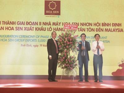 Tập đoàn Hoa Sen tiếp tục xuất khẩu lô hàng 5.000 tấn tôn đến Malaysia từ Nhà máy Hoa Sen Nhơn Hội B
