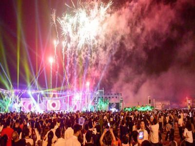 Hàng vạn người mãn nhãn với màn pháo hoa trong đêm khai hội Đền Hùng 2019