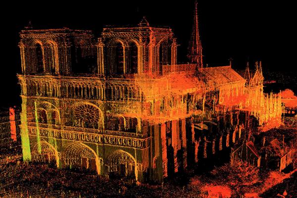 Bản đồ laser 3D có thể giúp khôi phục nhà thờ Đức Bà nguyên bản