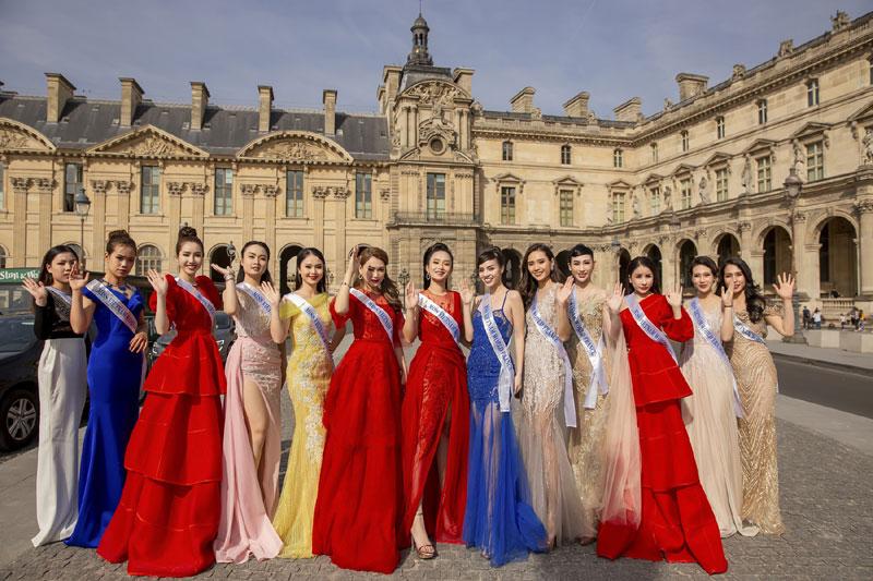 Thí sinh Hoa hậu Thế giới Người Việt tại Pháp 2019