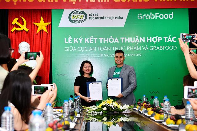 Cục An toàn thực phẩm và Grab ký thỏa thuận hợp tác về an toàn thực phẩm