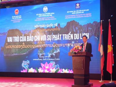 Báo chí với phát triển du lịch  hợp tác Việt Lào