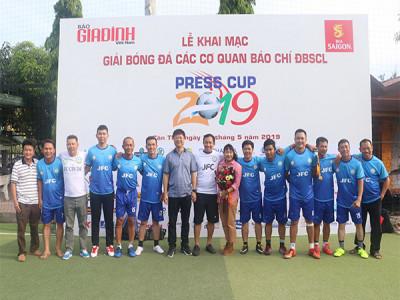 Khai mạc Giải Bóng đá các Cơ quan Báo chí ĐBSCL - Press Cup ĐBSCL năm 2019