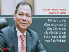 Ô tô Vinfast, chia sẻ của Chủ tịch Phạm Nhật Vượng cùng các lãnh đạo.