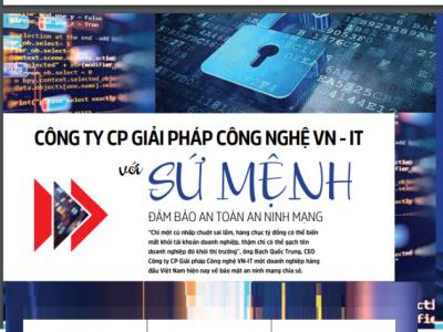 Công ty CP giải pháp công nghệ VN – IT với sứ mệnh đảm bảo an ninh mạng