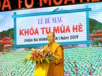 Bế mạc Khóa tu mùa hè lần 1 năm 2019 tại chùa Ba Vàng: Nhân lên lòng yêu thương, hiếu nghĩa