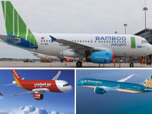 """Thị phần hàng không Việt Nam: Vietjet dẫn đầu với 44%, """"tân binh"""" Bamboo Airways chiếm 4,2%"""