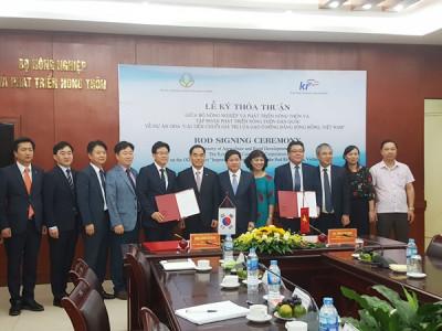 Hàn Quốc hỗ trợ 4,5 triệu USD để phát triển nông nghiệp Đồng bằng sông Hồng