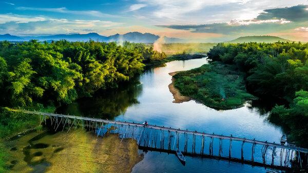 Khung cảnh xanh mướt của Quảng Ngãi nhìn từ trên cao