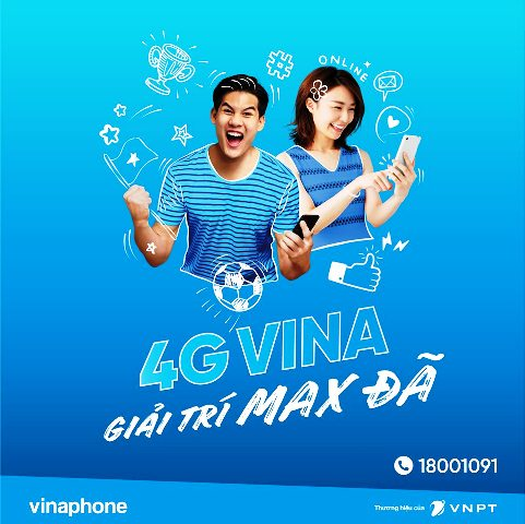 VinaPhone ra mắt 4 gói cước mới không giới hạn 3G/4G