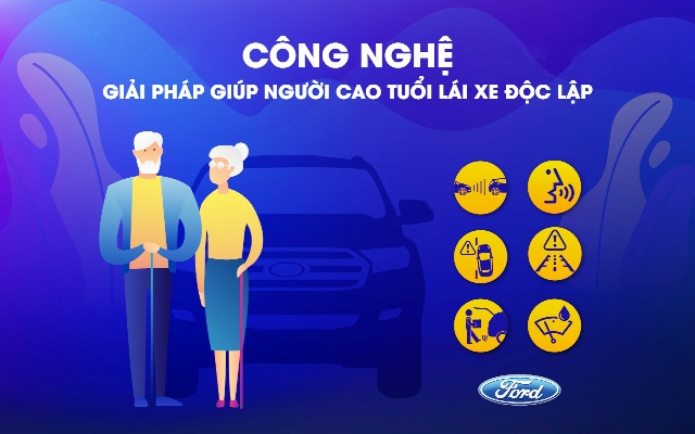 Ford phát triển công nghệ hỗ trợ người cao tuổi lái xe an toàn