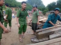 Cảnh hoang  tàn sau trận lũ quét tại bản Sa Ná nơi  vùng biên xứ Thanh