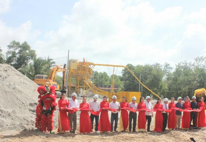 Khánh thành nhà máy ứng dụng công nghệ chế biến cát nhiễm mặn thành cát sạch đạt tiêu chuẩn xây dựng