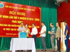 Hiệp hội Doanh nghiệp tỉnh Thanh Hóa quyên qóp hơn 2,3 tỷ đồng ủng hộ đồng bào bão lụt